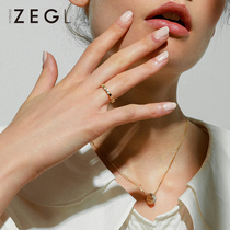 ZEGL hive ring female chic Japan and South Korea tide personality Network red joint ring ins cold wind forefinger ring