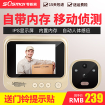 Zero Distance intelligent electronic doorbell visual cat eye doorbell Home anti-theft surveillance camera door mirror with night vision