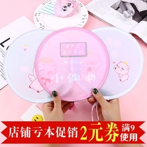 Foldable round antique fan cute schoolgirl carry-on delicate Japanese cartoon cloth group fan summer.