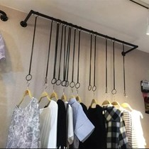 Clothing store rings hanging display rack on the wall hanger womens clothes hanger side hanging hanging clothing wall hanging ceiling