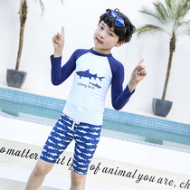 e245859738 Childrens swimsuit boys split long-sleeved pants warm hot spring winter children  boys quick-