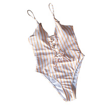 fe638924350 2019 Europe and the United States Foreign Trade new printing ladies swimsuit  sexy multi-rope