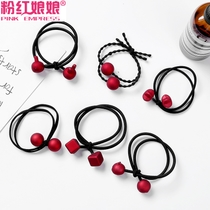 Head rope Korean small fresh and simple personality Horsetail rubber band Hair Ring leather sets of women cute tie hair rope headdress