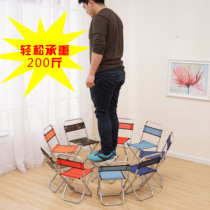 Spring train stool portable subway small chair backrest outdoor folding fishing stool sketch barbecue height bench