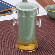 Brother ya brother green glass cup set black tea tea pot ceramic tea pot household filter double ear tea heat