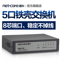 Leike NS115 steel shell 5 Gigabit desktop switch Ethernet lightning protection hub for small business office