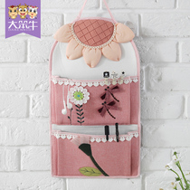 Wall storage bag hanging bag fabric wall hanging mobile phone hanging wall storage door rear wall hanging bed hanging storage hanging pocket