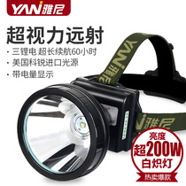 Yanni 736 headlights strong light charging ultra-bright head-mounted flashlight hunting night hunt led mine lamp hernia lamp Xenon