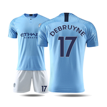 Short-sleeved Manchester City jersey 18-19 home Adult Soccer Suit Suit soccer jersey male uniforms custom