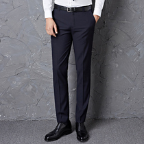 Slim mens black summer straight suit pants work business thin casual professional pants are fitted pants