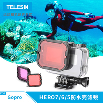 gopro filter for gopro hero7 6 5 sports camera accessories underwater diving red filter deep dive color partial positive lens GoPro 7 original waterproof