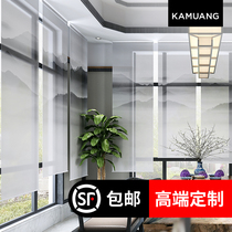 Carmuang new Chinese ink curtains hanging screen partition curtain classical living room bedroom shade shutter