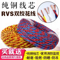 Flower wire electric car charging cable lamp cable twisted pair copper 2-core wire fire line extension line err