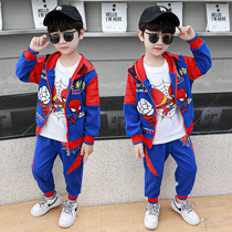 Childrens three-piece set boys spring and autumn 2020 new 4-5-6 years old boy set 3 baby handsome sports tide.