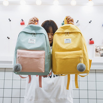 bf vintage sense girl shoulder bag student ins wind campus college students Sen Department ins simple wild bag backpack