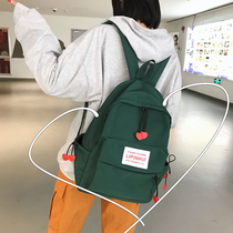 ins bag female Korean version of high school students campus simple wild Sen ancient sense of the girl mild shoulder bag