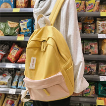 bf wind vintage sense girl bag female Korean version of Harajuku Ulzzang campus canvas junior college students shoulders