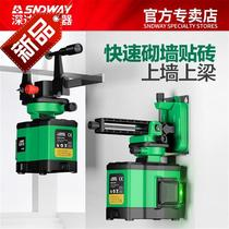 8-line f-green light level on the beam wall high-precision automatic flattening of the wall 4 line leveling meter 4 line wall frame.