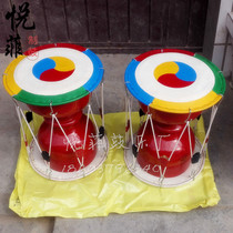 The same exhibition Korean long drum painting Korean drum adult Korean drum large medium trumpet children long drum Korea