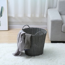 Household dirty clothes simple laundry basket bathroom bedroom toy bucket storage basket dormitory artifact plastic basket