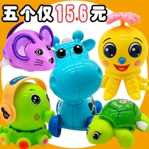 Fun hair toy combination 5 sets of baby boys and girls learn to climb toy animals 1-2-3-4 years old.