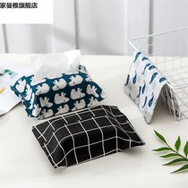 Home cotton and linen paper towel set paper bag paper bag fabric car paper bag paper box paper box paper towel bag
