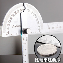De Chiron angle ruler protractor 300MM measuring instrument woodworking gauge stainless steel thick high precision gauge