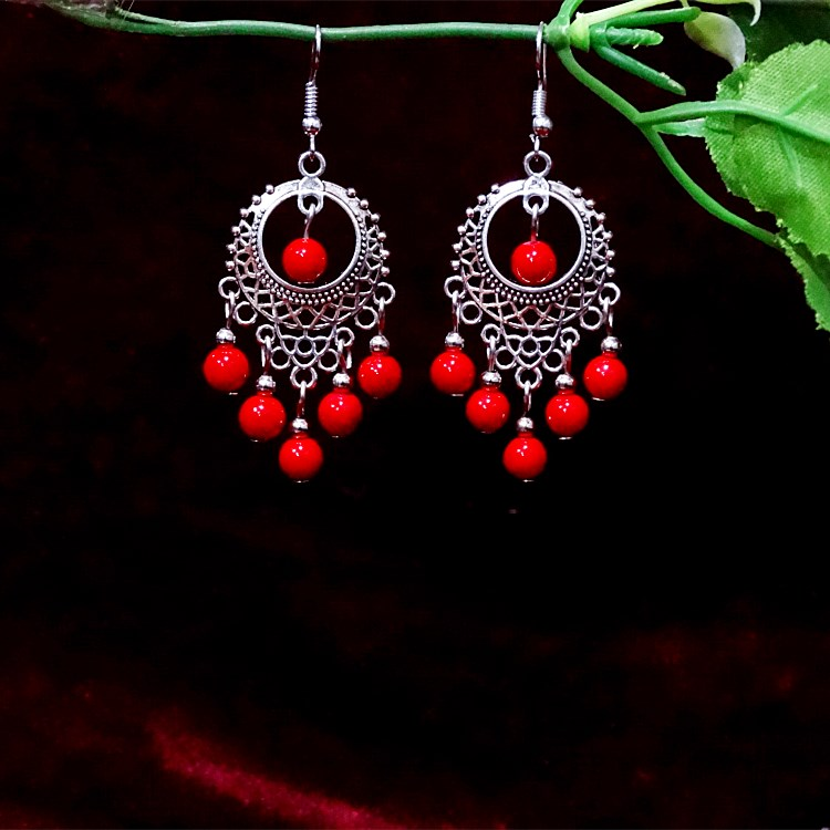 Handmade original folk style woman new vintage earring 925 pure silver earring earrings attractions to sell hot jewelry.
