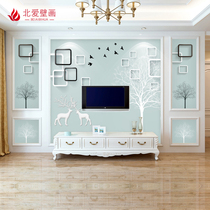 8d TV background wall paper Modern Minimalist Living Room 3d stereo mural bedroom 5d film Wall seamless mural