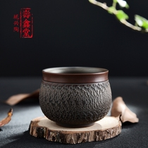 Small cup ceramic single only bei Xingtao full handmade tea cup single master kung fu tea with non-glass cup