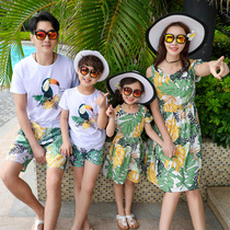 Shaking sound parent-child dress summer new mother and child mother and Family Family a family of three four foreign-style family suit