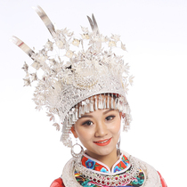 Mother Ru Miao silver Miao accessories Hmong head Crown Hmong bird Crown