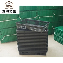 With eye glue plastic fruit basket fruit store fruit shelf box supermarket vegetable plate with hole tray