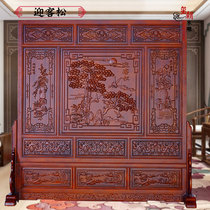 Welcome Songdong Yang wood carving Chinese floor-to-ceiling screen hotel living room feng shui Xuanguan cut-off screen solid wood seat screen.