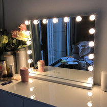 High-definition led makeup mirror desktop large vanity mirror with light makeup light mirror home wedding makeup mirror