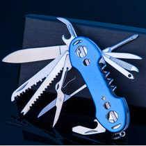 New multi-functional Swiss Army knife outdoor fishing picnic multi-purpose portable folding combination tool knife fruit knife