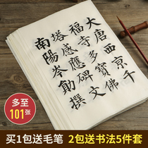 Famous Chinese model brush copy copybook set beginners beginners European body regular script adult Kai Kai large primary and secondary school children practice the word red Yan zhenqing soft pen calligraphy work xuan paper copy of this
