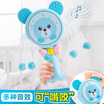 Baby toys 0-1 years old boys music rattle 3-6-12 months puzzle sound early education can bite the girl 9