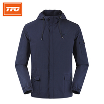 American TFO Outdoor Jacket mens wear 2019 autumn winter new hooded jacket casual coat thin casual top