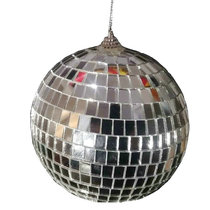 Christmas decoration mirror glass ball silver reflective ball bar KTV stage rotating ball wedding flash hanging ball