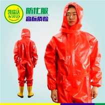 Fire Protection suit positive pressure air respirator acid and alkali resistance chemical suit liquid ammonia gas light semi-closed suit