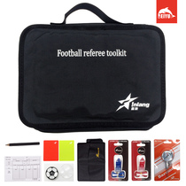 Yin wave football package arbitre costume rouge et jaune record papier picker sifflet baromètre équipement de larbitre