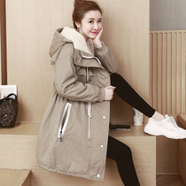 Pregnant women winter coat female Korean version of the loose coat winter 2018 New pregnant late coat cotton padded jacket season