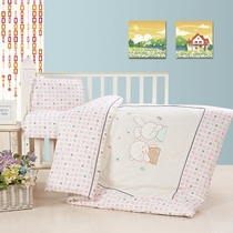 Cotton Kindergarten Quilt Three pieces set of pure cotton children Mother winter by the core of seven pieces of baby nap cotton bedding