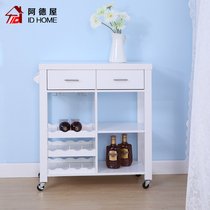 Modern simple household universal wheel movable tea drinks cart dining car multi-functional kitchen storage car storage rack