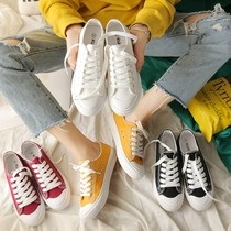 2018 new female students canvas shoes Korean version of the wild ins with the same paragraph female shoes spring and autumn white shoes Harajuku wind cloth