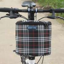 Bicycle basket universal front with lid cover canvas cloth to increase the basket basket basket Electric Head storage bag