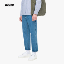 viishow2018 new jeans male spring and autumn mens Tide brand straight pants casual trousers loose pants