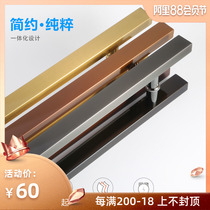 Dumb black stainless steel door handle handle big handle frosted titanium gold door has rose golden door handle