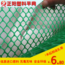 Green plastic flat net balcony protection safety anti-fall net breeding chicken duck brood foot fence plastic mesh